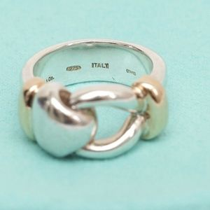 TIFFANY & CO. Sterling Silver Loop Ring Band Sz 7